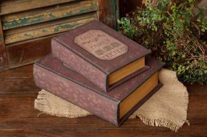 BOOK BOXES - FAITH, FAMILY, FRIENDS NESTED