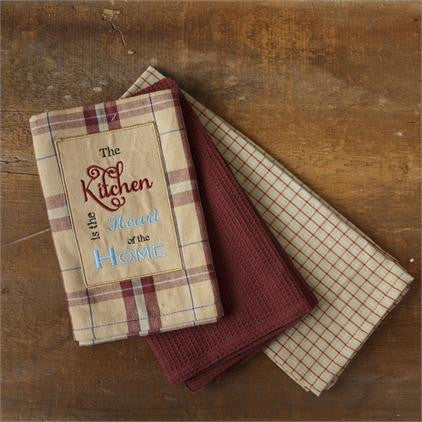 Tea Towels / Hand Towels - The Kitchen is the Heart of the Home - Fort Valley Bob's Simple Man Store
