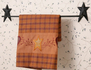 Star- Wrought Iron Towel Bar with Stars - Fort Valley Bob's Simple Man Store