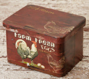 Farm Fresh Eggs - Can w/ Lid Short Rectangle - Fort Valley Bob's Simple Man Store