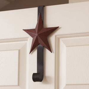 Star - Wreath Holder - Burgundy Star - Fort Valley Bob's Simple Man Store