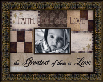 Collage Picture Frame - Faith Hope Love