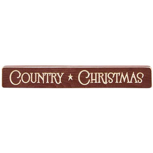 COUNTRY CHRISTMAS BLOCK SIGN 12'