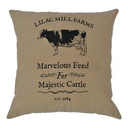 (SALE) MAJESTIC CATTLE PILLOW 16 X 16""