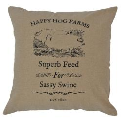 SASSY SWINE pillow 16""