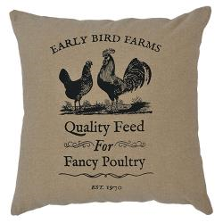 FANCY POULTRY PILLOW 16 X 16""
