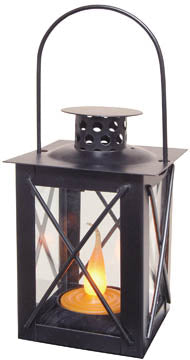 3' mini lantern metal/ black