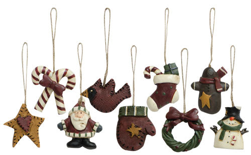 Set of 9 Old World MINI Ornaments