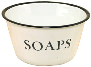 ENAMELWARE SOAP BOWL