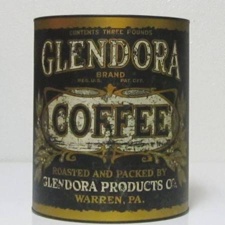 GLENDORA coffee can