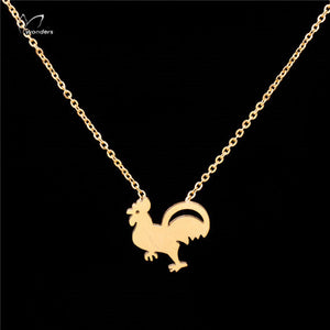 Rooster Necklace or Earrings (Choice)  - 18K Gold Plated - Fort Valley Bob's Simple Man Store