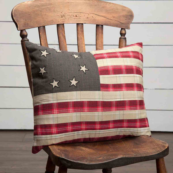 (SALE) Liberty Stars Flag Pillow