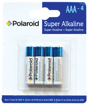 AAA Super Alkaline batteries 4pk