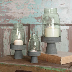 Mason Jar Chimney Stand/ Barn Roof - Choice of three sizes - Fort Valley Bob's Simple Man Store
