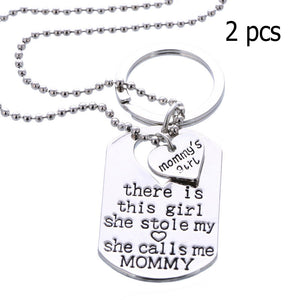 "Necklace and Keychain ""Mommy's Girl"" - Fort Valley Bob's Simple Man Store"