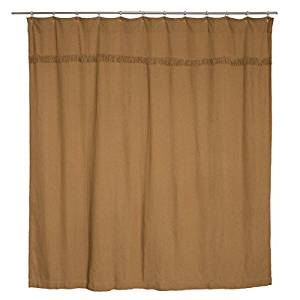 VHC BURLAP NATURAL Shower Curtain