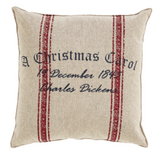A CHRISTMAS CAROL PILLOW 12 X 12