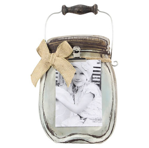 Wood Mason Jar Picture Frame