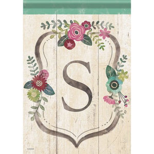 Garden Flag FLORAL MONOGRAM S (Double Sided)