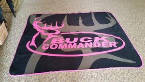 Buck Commander Fleece Throw PINK - Fort Valley Bob's Simple Man Store