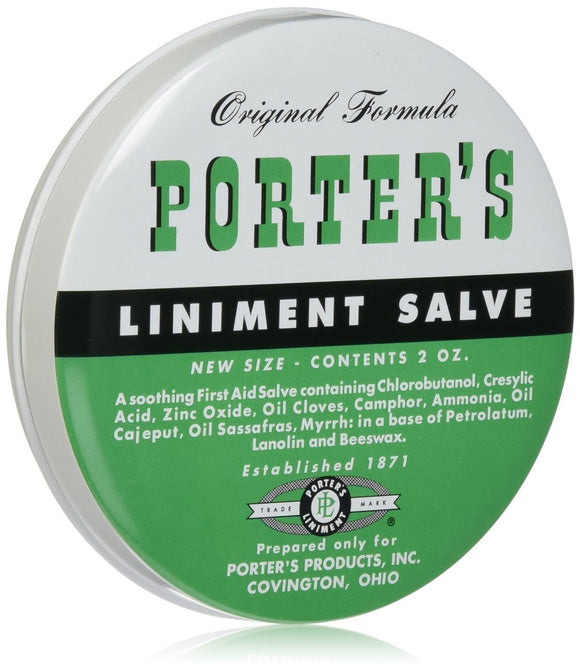 Porter's Liniment Salve 2oz - Fort Valley Bob's Simple Man Store