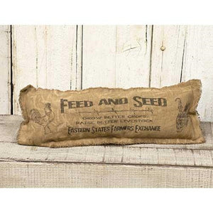 FEED & SEED PILLOW  17 X 6""