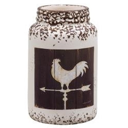 ROOSTER Ceramic Jar