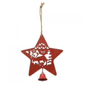 Red Star Ornament w/bell
