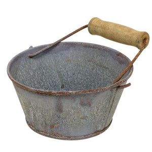 Washed Galvanized Metal Bowl