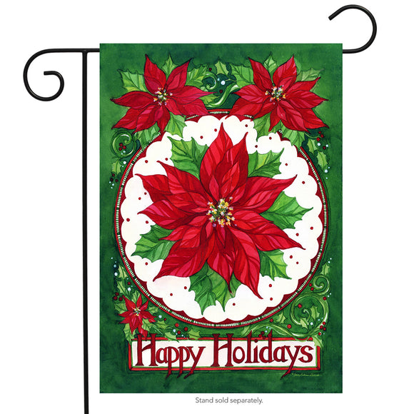 GARDEN FLAG- Happy Holidays