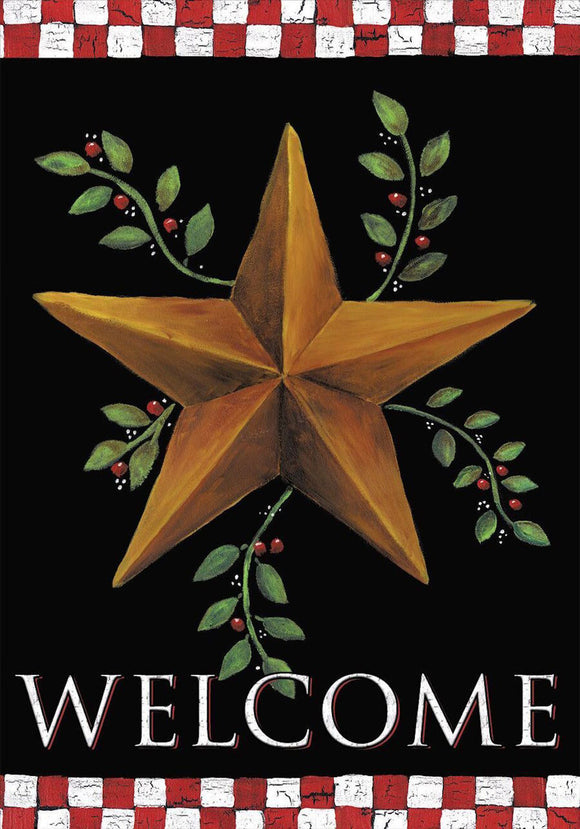 Holiday Barnstar House or Garden Flag