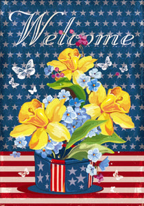 Garden Flag Patriotic Welcome Garden Flag