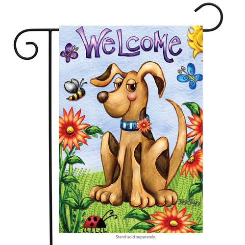 Garden Flag Welcome Puppy