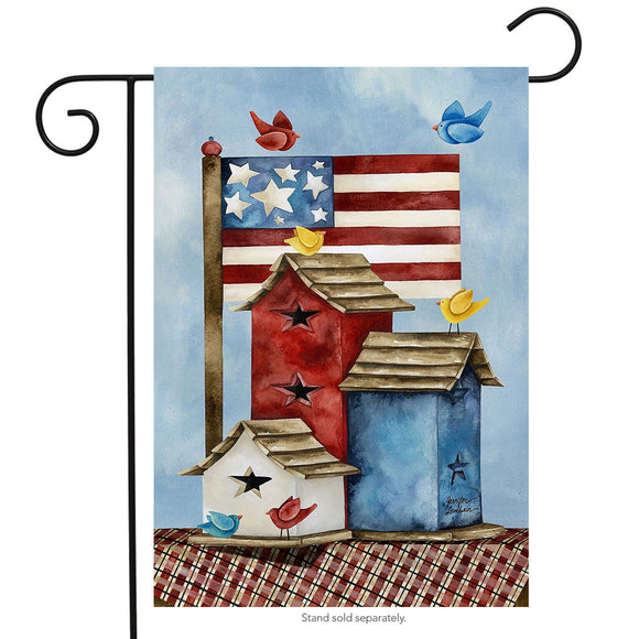 Garden Flag Freedom Birdhouses