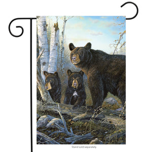 Garden Flag Wild Black Bears