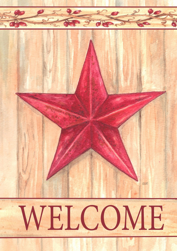 Garden Flag Barn Star Welcome - Fort Valley Bob's Simple Man Store