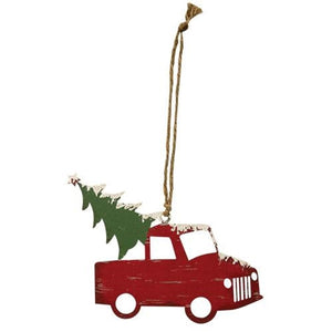 Traveling Tree Ornament RED TRUCK