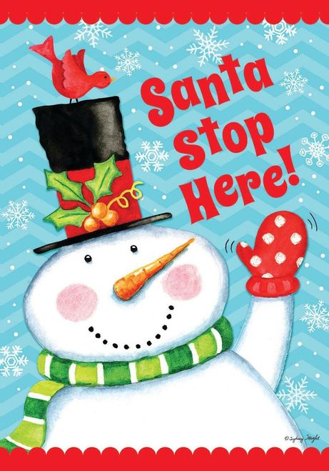 Santa Stop House or Garden Flag (Choice)