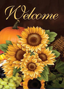 Welcome Fall Sunflowers House or Garden Flag (Choice)
