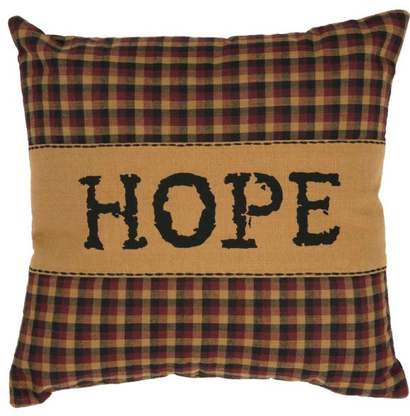 (SALE) HERITAGE FARMS PILLOWS HOPE 12 X 12