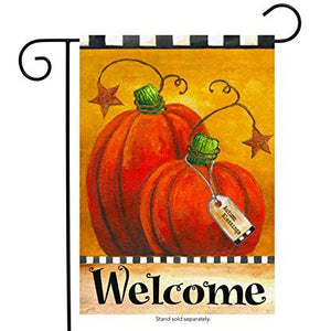 Pumpkin Autumn Welcome Garden Flag