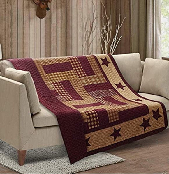 Virah Bella Quilted Throws ( Choice of colors and designs)
