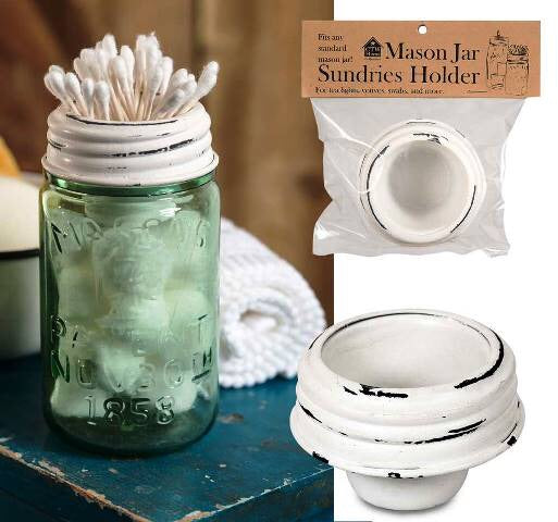 Mason Jar Tapered Cup Lid- White