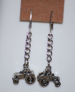 "2"" Tractor Earrings by Finest Jewelry Creations LLC"