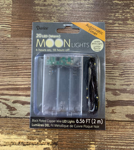 20 LED (warm) Moon Lights with Timer black wire