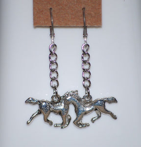 "2"" Horse Earrings by Finest Jewelry Creations LLC"