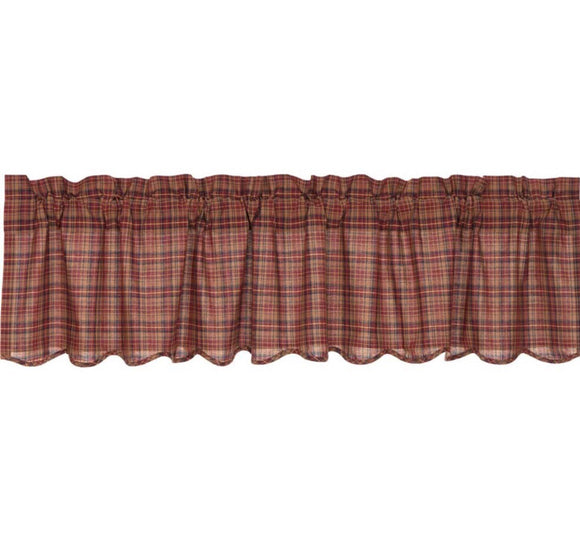 VHC PARKER Scalloped VALANCE 16 X 60