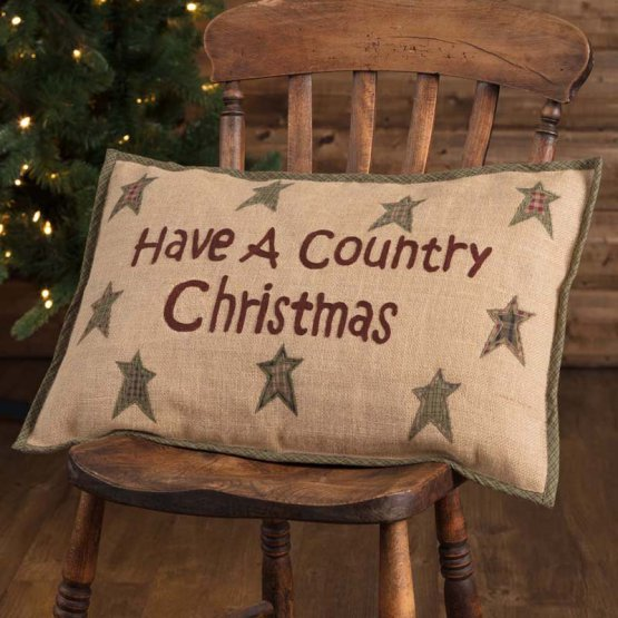 VHC Country Christmas Pillow 14 x 22