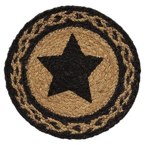 "8"" JUTE TRIVETS - FARMHOUSE STAR"