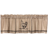 VHC Sawyer Mill Charcoal Chicken VALANCE Pleated
